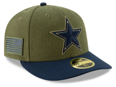 Dallas Cowboys New Era 2018 NFL Salute To Service Low Profile 59FIFTY Cap
