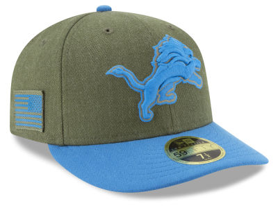 Detroit Lions New Era 2018 NFL Salute To Service Low Profile 59FIFTY Cap
