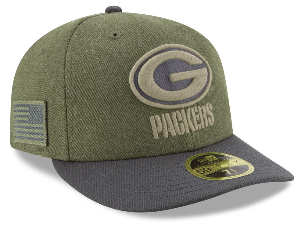 Green Bay Packers New Era 2018 NFL Salute To Service Low Profile 59FIFTY Cap   af5016903