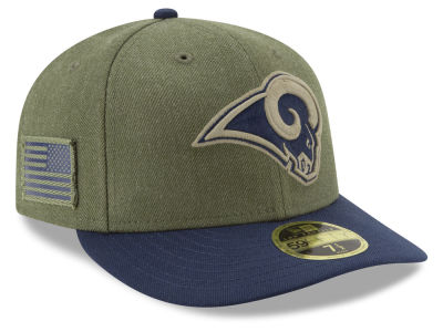 Los Angeles Rams New Era 2018 NFL Salute To Service Low Profile 59FIFTY Cap 7c57c0bb1fc