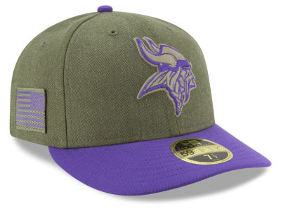 Minnesota Vikings New Era 2018 NFL Salute To Service Low Profile 59FIFTY Cap