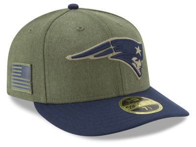 New England Patriots New Era 2018 NFL Salute To Service Low Profile 59FIFTY Cap