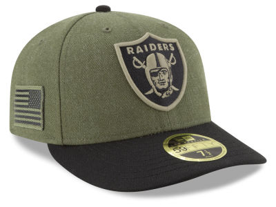 Oakland Raiders New Era 2018 NFL Salute To Service Low Profile 59FIFTY Cap