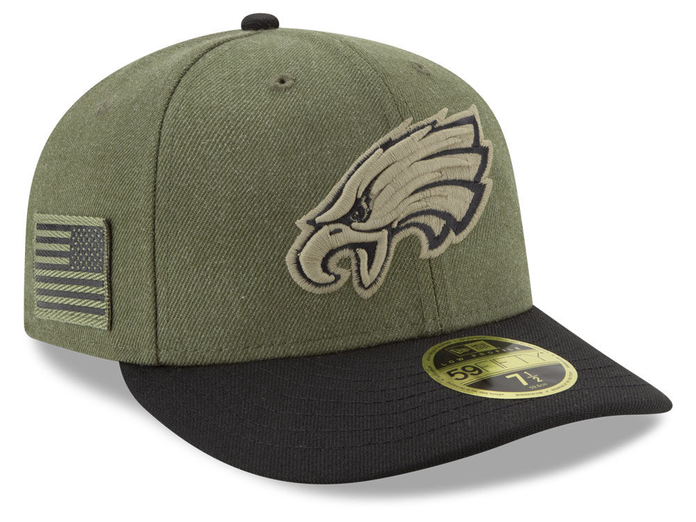 db069cdd3e6 Philadelphia Eagles New Era 2018 NFL Salute To Service Low Profile 59FIFTY  Cap