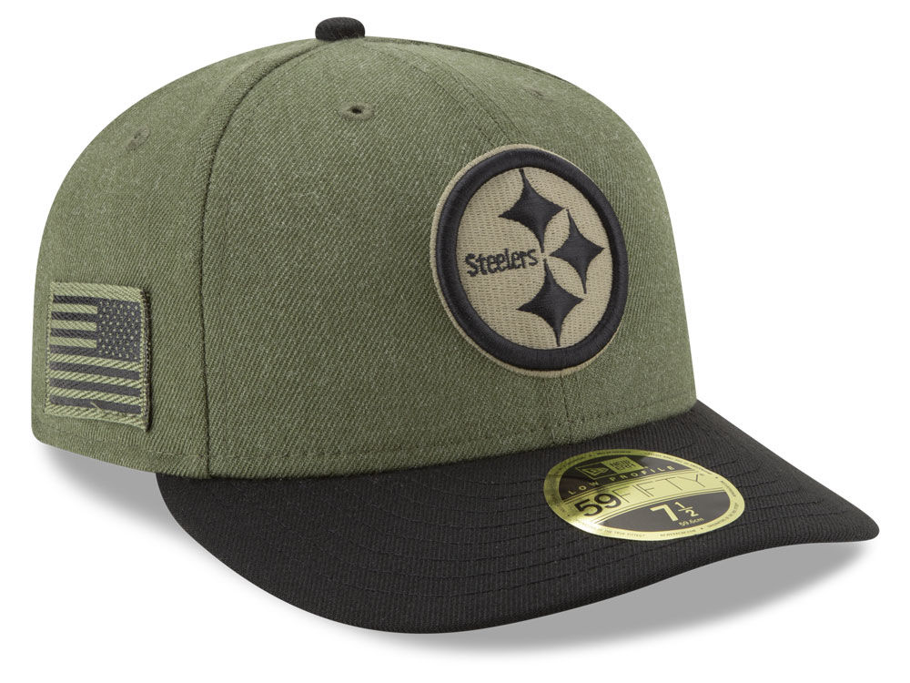 Pittsburgh Steelers New Era 2018 NFL Salute To Service Low Profile 59FIFTY  Cap  1410583c0b3