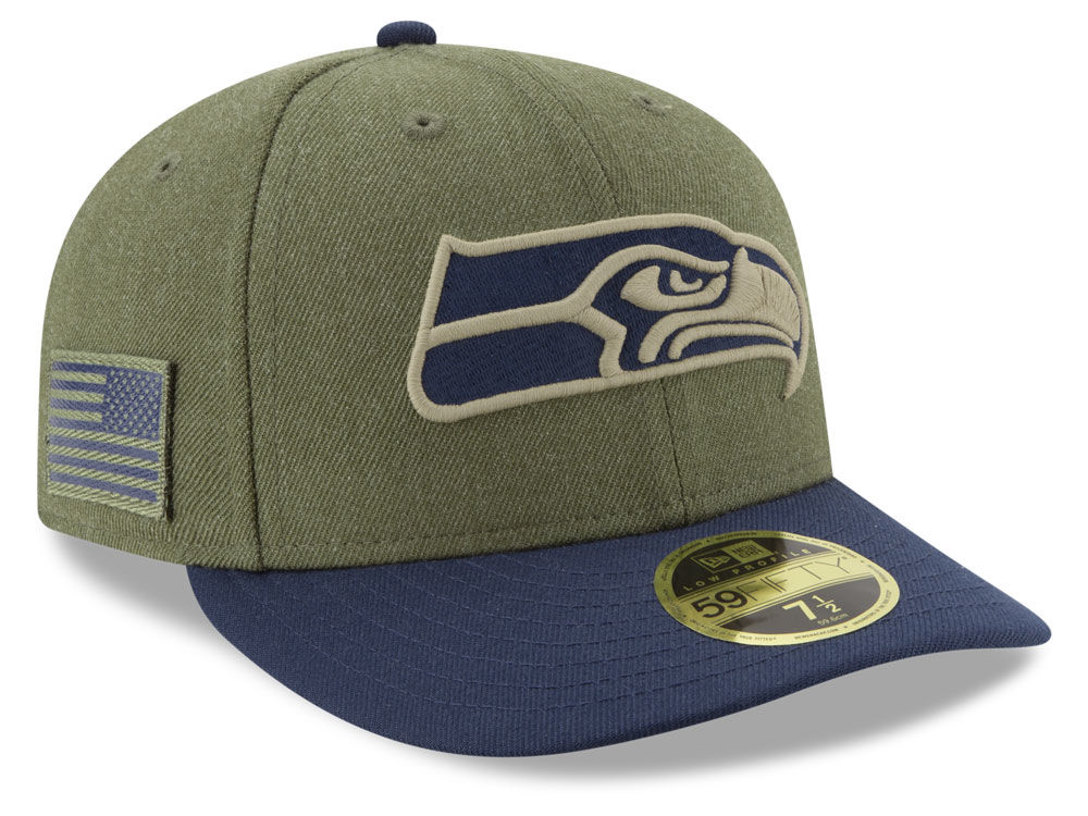 1df4a35fc Seattle Seahawks New Era 2018 NFL Salute To Service Low Profile 59FIFTY Cap