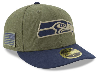 Seattle Seahawks New Era 2018 NFL Salute To Service Low Profile 59FIFTY Cap