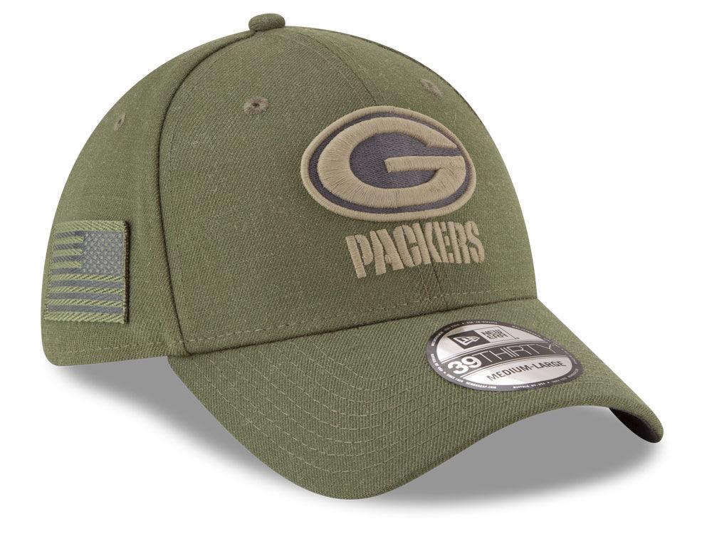 Green Bay Packers New Era 2018 NFL Salute To Service 39THIRTY Cap ... 108eccd9432