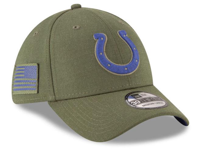 Indianapolis Colts New Era 2018 NFL Salute To Service 39THIRTY Cap ... e9da20141a8