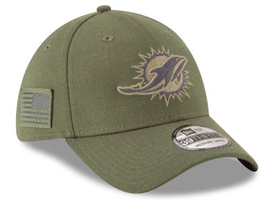Miami Dolphins New Era 2018 NFL Salute To Service 39THIRTY Cap