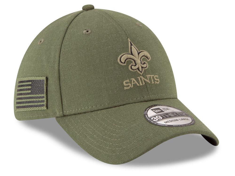 New Orleans Saints New Era 2018 NFL Salute To Service 39THIRTY Cap ... ad3e2ab47