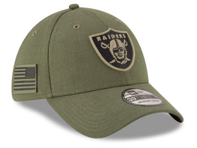 Oakland Raiders New Era 2018 NFL Salute To Service 39THIRTY Cap