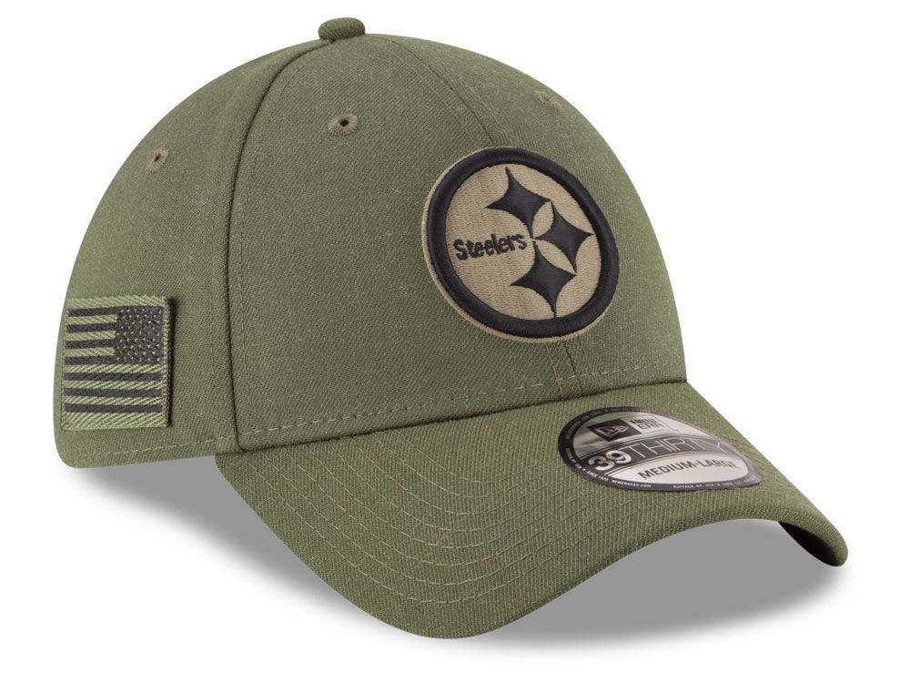 Pittsburgh Steelers New Era 2018 NFL Salute To Service 39THIRTY Cap ... 994256e48b5