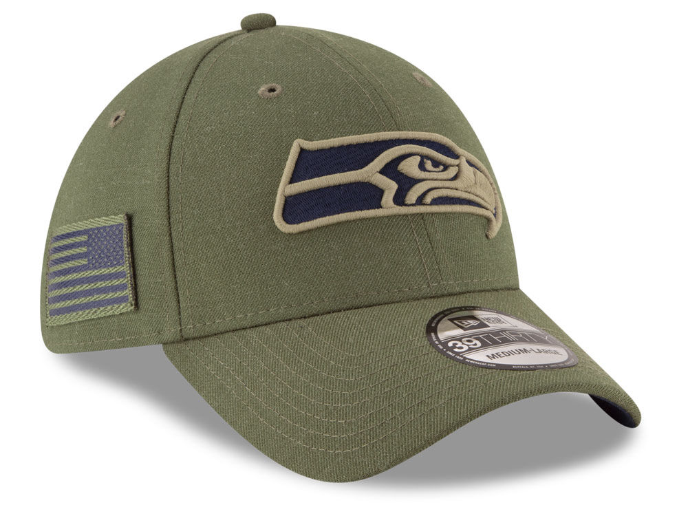 9c9f3d8df Seattle Seahawks New Era 2018 NFL Salute To Service 39THIRTY Cap ...
