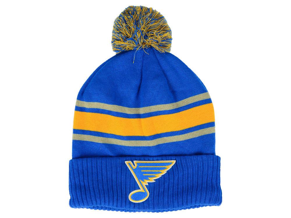 49e612d6ee1 St. Louis Blues NHL NHL Alternate Jersey Cuffed Pom Knit