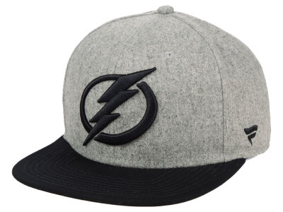 Tampa Bay Lightning NHL Heavy Heather Emblem Snapback Cap