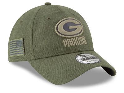 Green Bay Packers New Era 2018 NFL Salute To Service 9TWENTY Cap 3ac4201d44bd