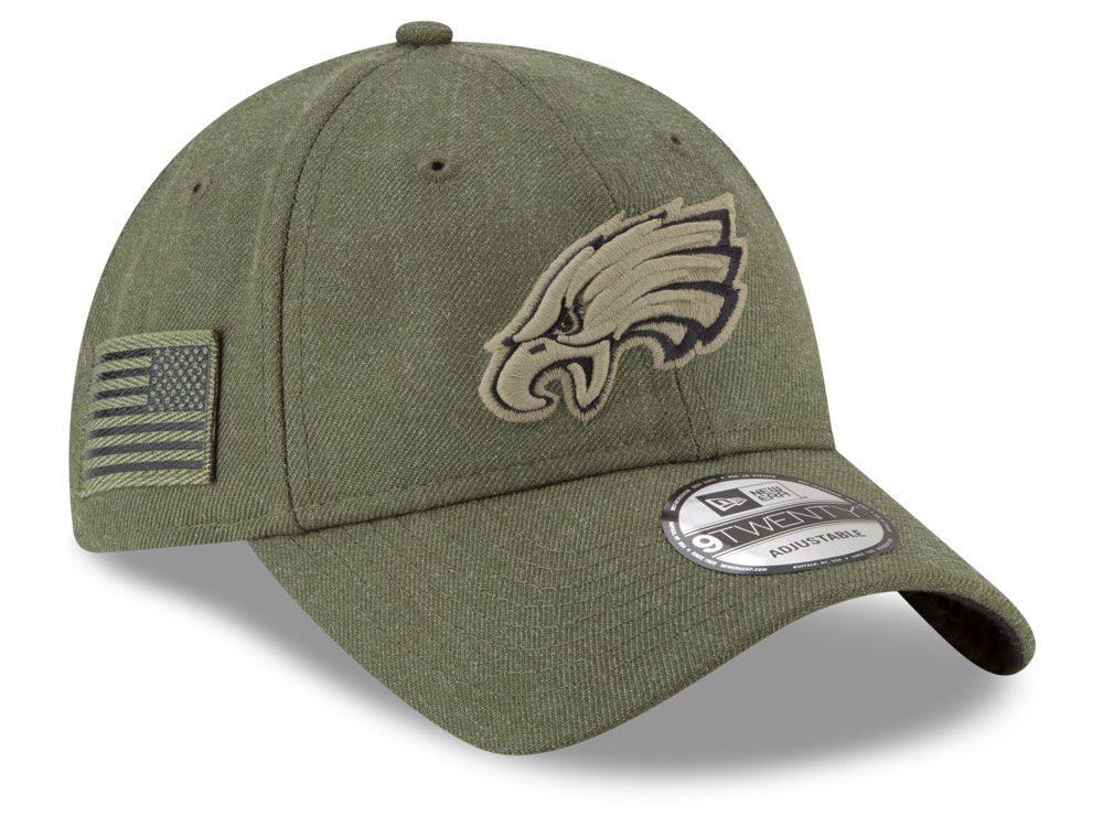 1d9449f6 closeout philadelphia eagles army hat 669fd c64fc