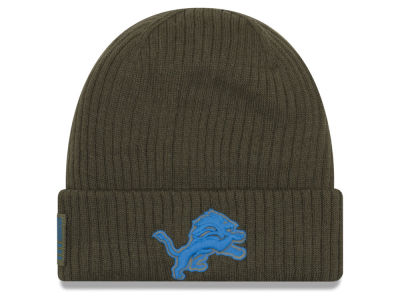 Detroit Lions New Era 2018 NFL Salute To Service Cuff Knit
