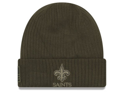 New Orleans Saints New Era 2018 NFL Salute To Service Cuff Knit