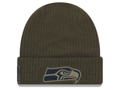 Seattle Seahawks New Era 2018 NFL Salute To Service Cuff Knit