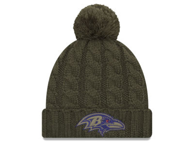 Baltimore Ravens New Era 2018 NFL Women's Salute To Service Pom Knit