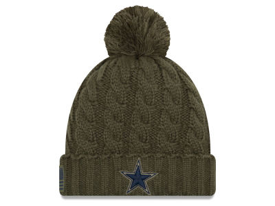 Dallas Cowboys New Era 2018 NFL Women's Salute To Service Pom Knit