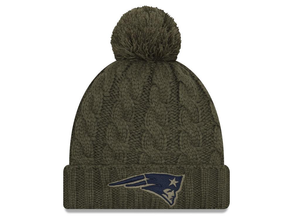 09d61a416a1 New England Patriots New Era 2018 NFL Women s Salute To Service Pom Knit