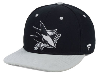 San Jose Sharks NHL Blackout Emblem Snapback Cap