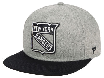 New York Rangers NHL Heavy Heather Emblem Snapback Cap