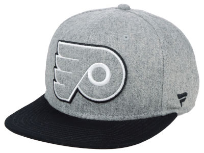 Philadelphia Flyers NHL Heavy Heather Emblem Snapback Cap