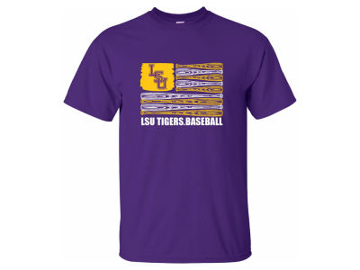 LSU Tigers NCAA Men's Baseball Flag T-Shirt