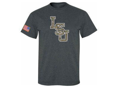 LSU Tigers NCAA Men's Military SEC Interlock T-shirt