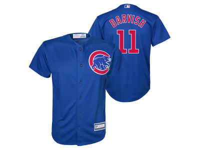 Chicago Cubs Yu Darvish Majestic MLB Youth Player Replica Cool Base Jersey