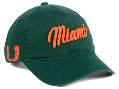Miami Hurricanes Zephyr NCAA Scroll Adjustable Cap