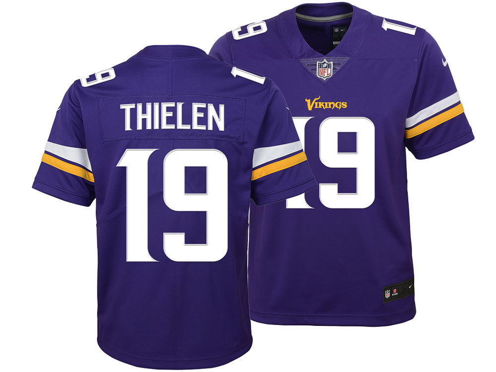 Minnesota Vikings Adam Thielen Nike NFL Youth Color Rush Jersey ... 3c152a8ef