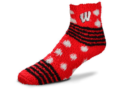 Wisconsin Badgers Homegater Sleep Soft Socks