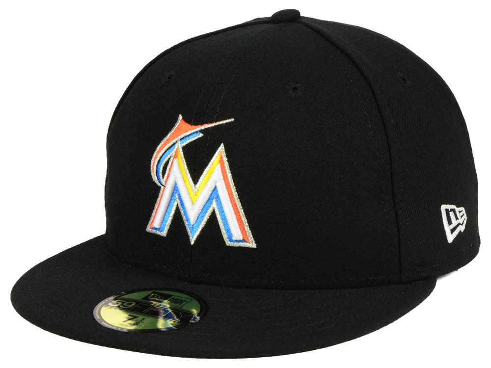 Miami Marlins New Era MLB Authentic Collection 59FIFTY Cap  a116ca66305