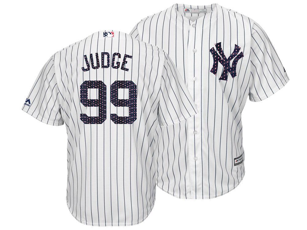 New York Yankees Aaron Judge Majestic MLB Men s Stars   Stripes Cool Base  Jersey  f096945b1