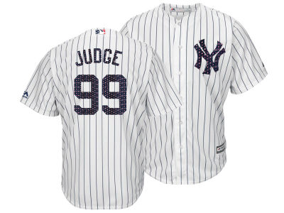 New York Yankees Aaron Judge Majestic MLB Men's Stars & Stripes Cool Base Jersey