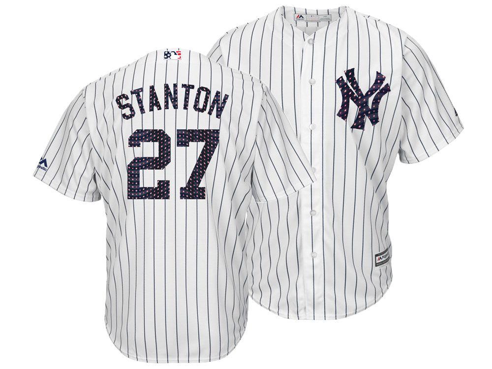 New York Yankees Giancarlo Stanton Majestic MLB Men s Stars   Stripes Cool  Base Jersey  44a5e1e4c6b