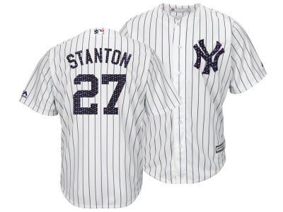 New York Yankees Giancarlo Stanton Majestic MLB Men's Stars & Stripes Cool Base Jersey