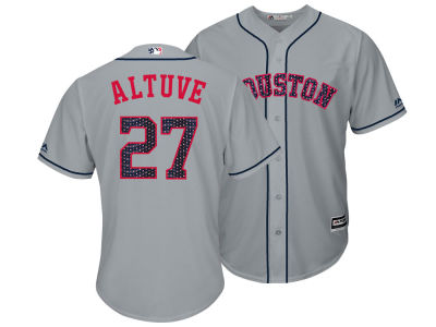 Houston Astros Jose Altuve Majestic MLB Men's Stars & Stripes Cool Base Jersey