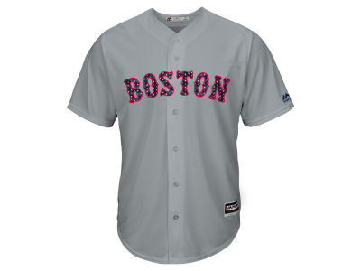 Boston Red Sox Majestic MLB Men's Stars & Stripes Cool Base Jersey