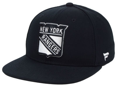 New York Rangers NHL Black DUB Fitted Cap