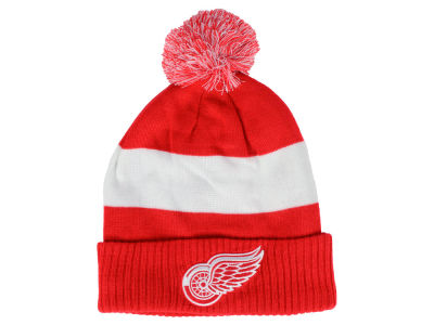 Detroit Red Wings NHL Alternate Jersey Cuffed Pom Knit