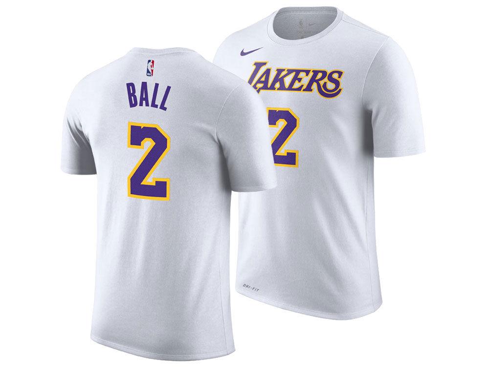 Los Angeles Lakers Lonzo Ball Nike NBA Men s Association Player T-Shirt  81bca6d60