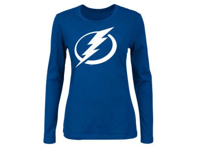 Tampa Bay Lightning Majestic NHL Women's Primary Logo Long Sleeve T-Shirt
