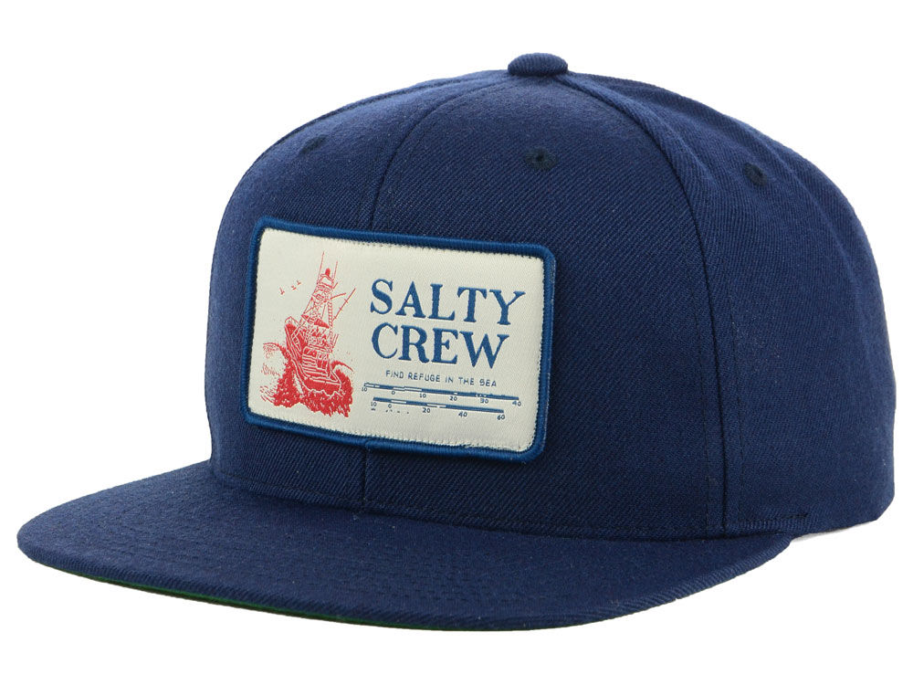 60f2a253d5d Salty Crew Impact Zone Patched Snapback Cap