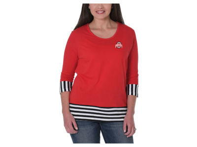 NCAA Women's Striped Panel T-Shirt